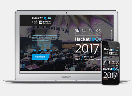 HackatH2On website for Aigües de Barcelona