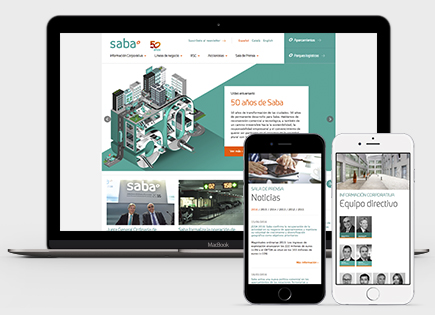 Saba Infraestructures corporate website