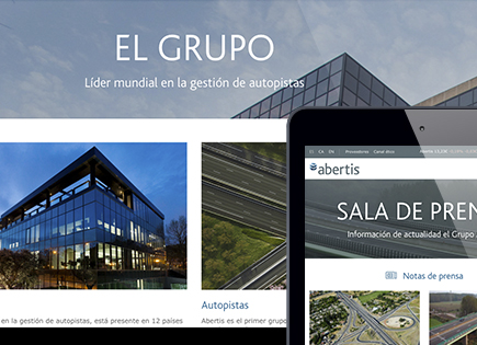 Abertis corporate website